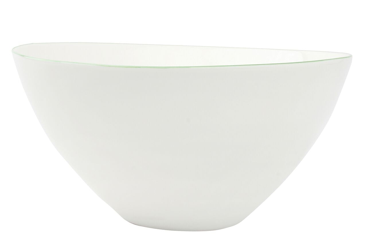 Abbesses Large Bowl Green Rim (Set of 2)