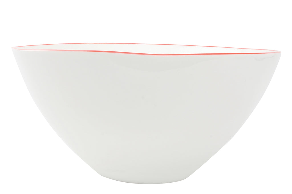 Abbesses Large Bowl Red Rim (Set of 2)