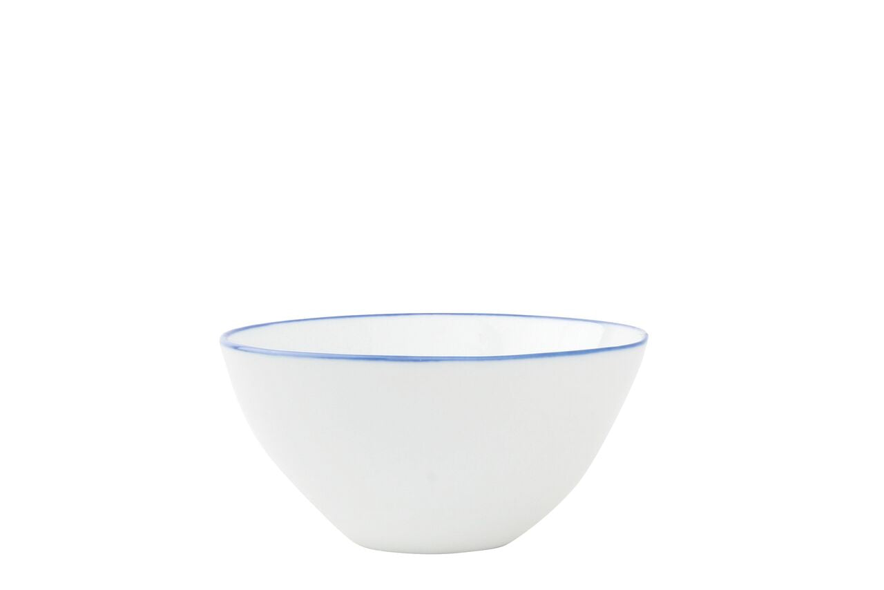 Abbesses Small Bowl Blue Rim (Set of 4)
