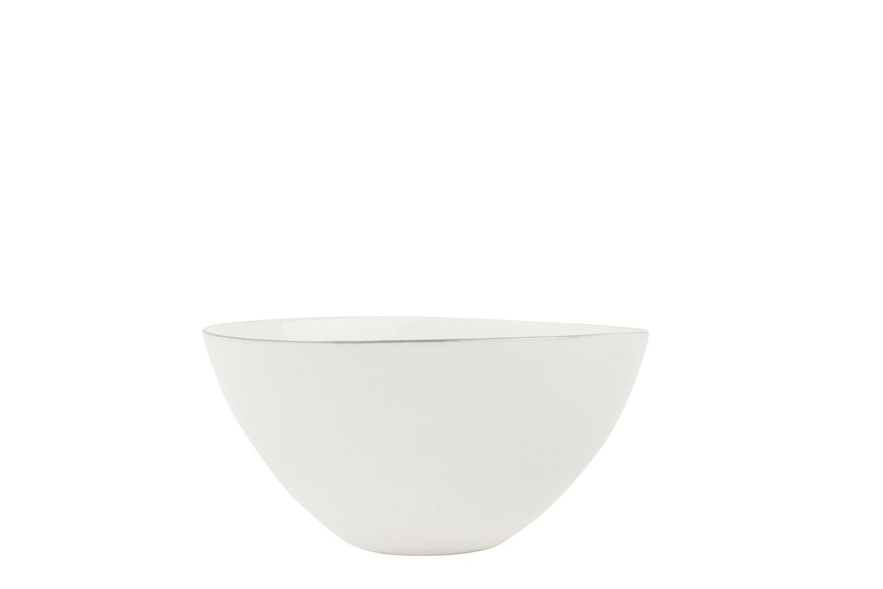 Abbesses Small Bowl Platinum Rim (Set of 4)