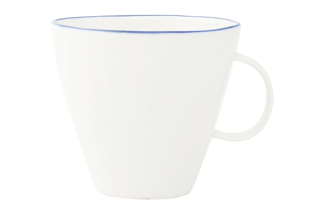 Abbesses Cup Blue Rim (Set of 4)