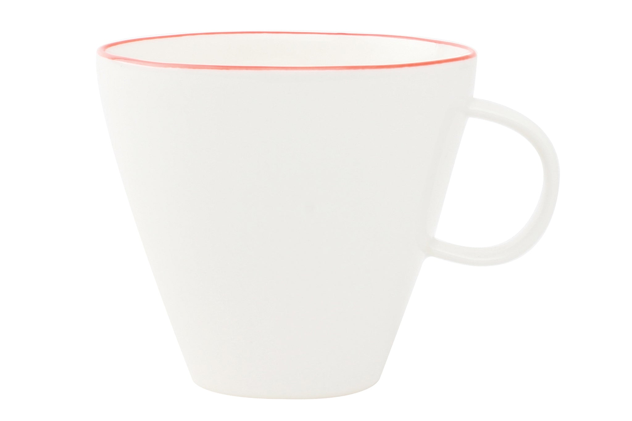 Abbesses Cup Red Rim (Set of 4)