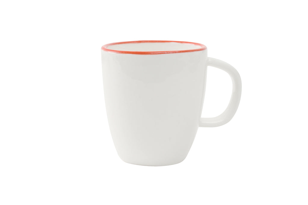 Abbesses Espresso Cup Red Rim (Set of 4)