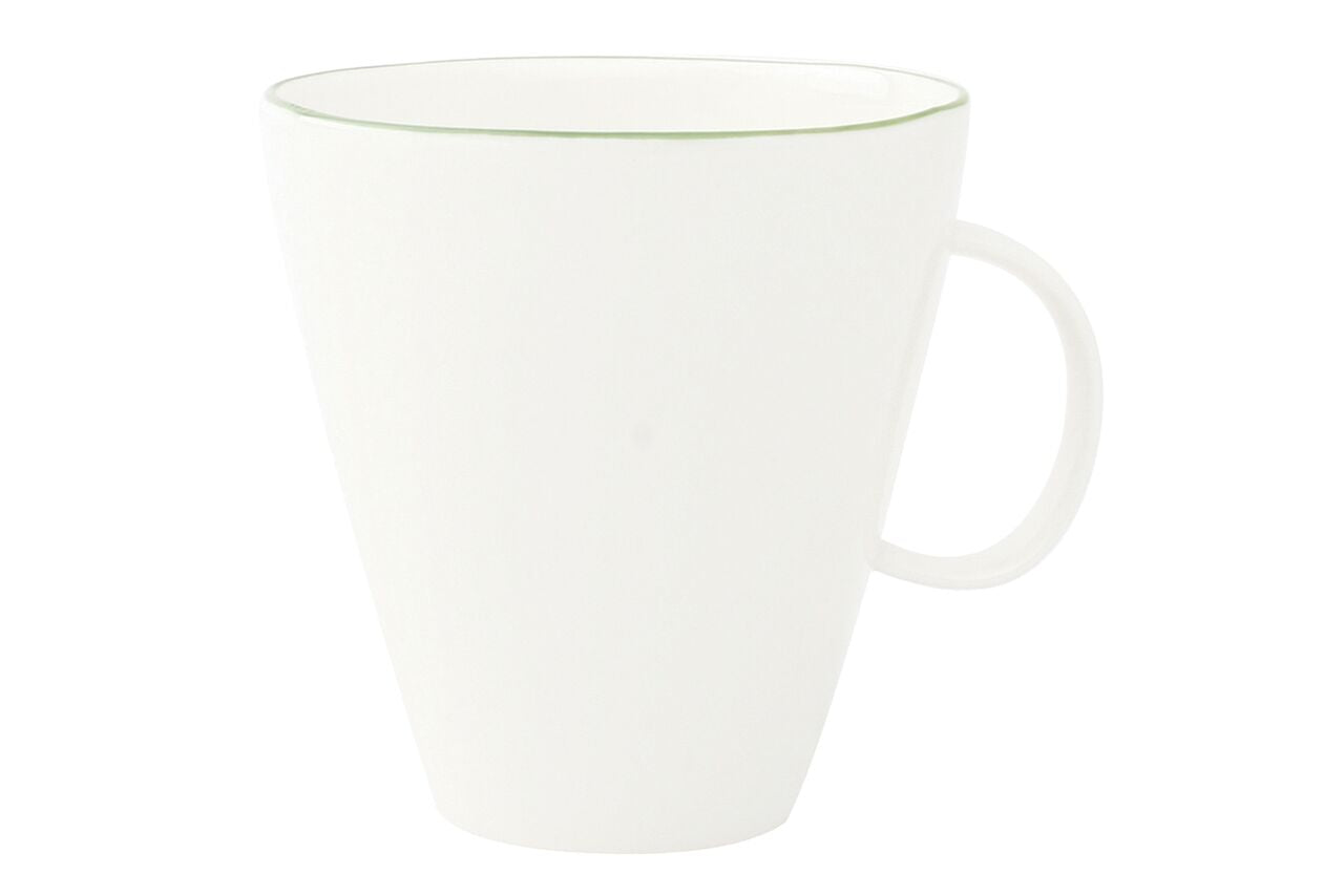 Abbesses Cup Green Rim (Set of 4)