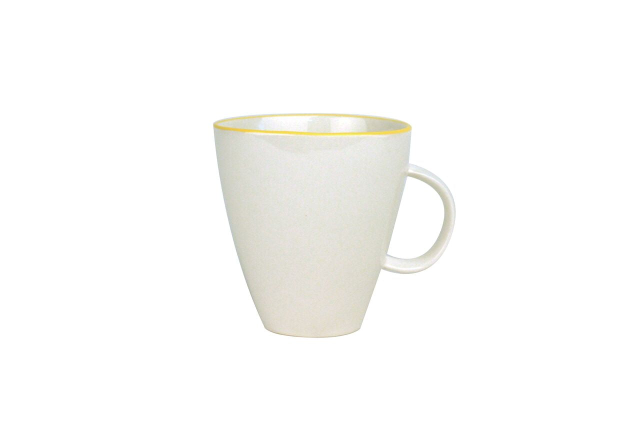 Abbesses Mug Yellow Rim (Set of 4)