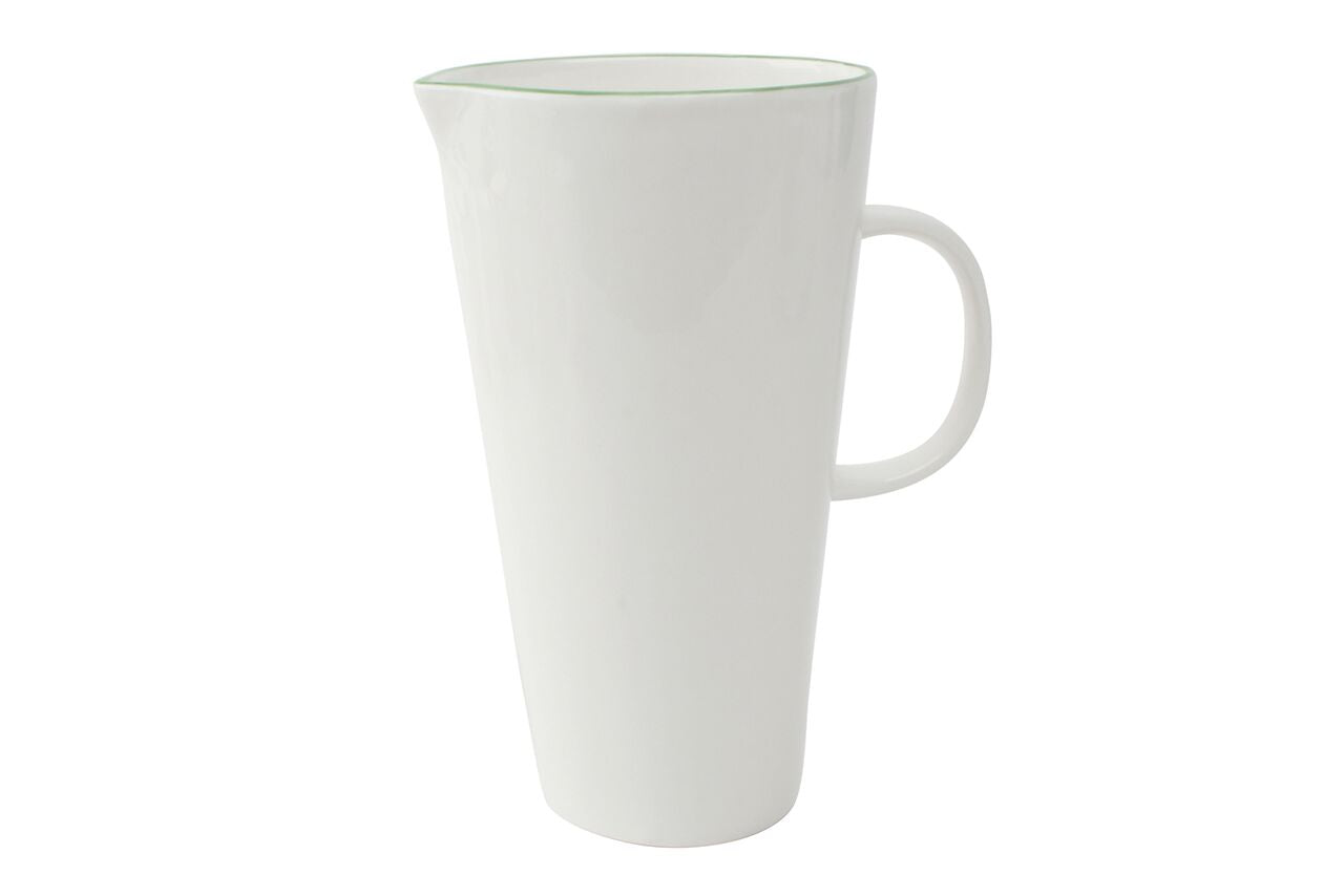 Abbesses Jug Green Rim