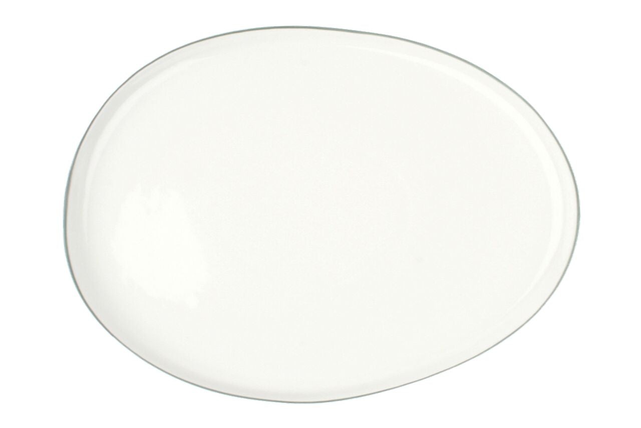 Abbesses Large Platter Grey Rim