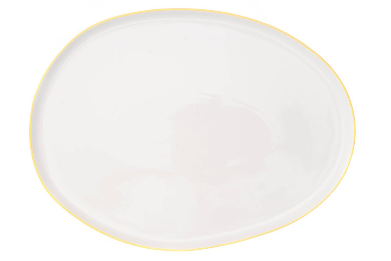 Abbesses Small Platter Yellow Rim