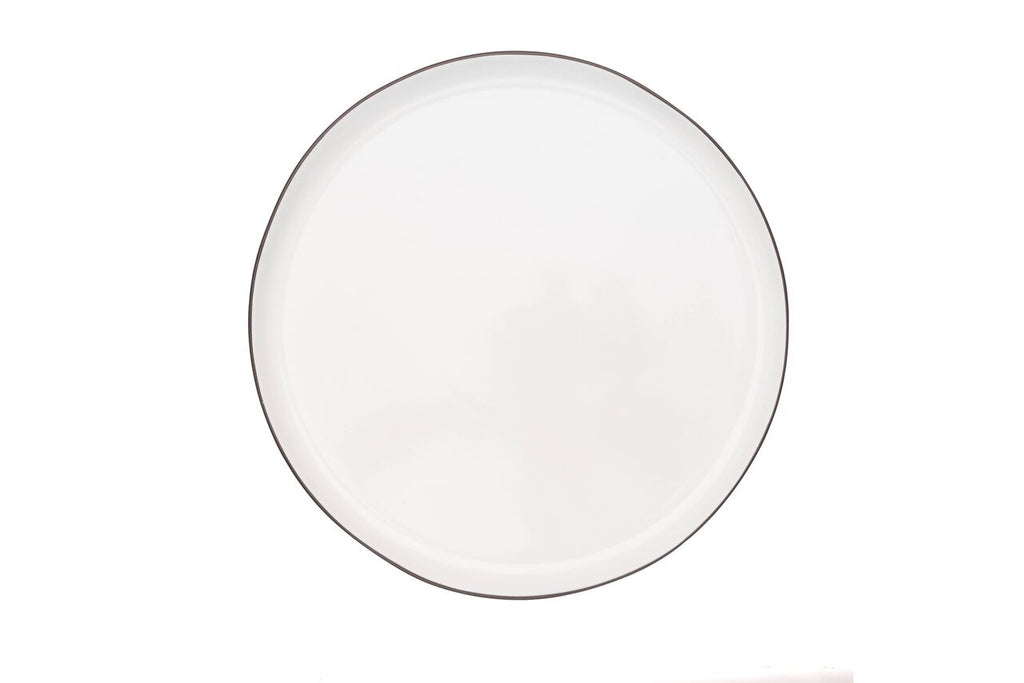 Abbesses Large Plate Black Rim (Set of 4)