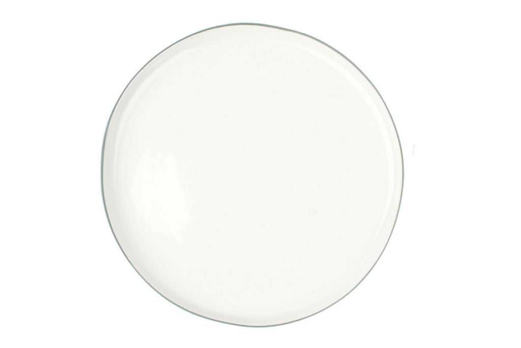 Abbesses Large Plate Grey Rim (Set of 4)