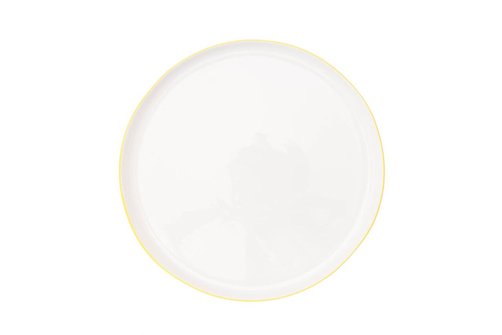 Abbesses Large Plate Yellow Rim (Set of 4)