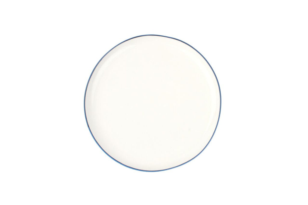 Abbesses Medium Plate Blue Rim (Set of 4)