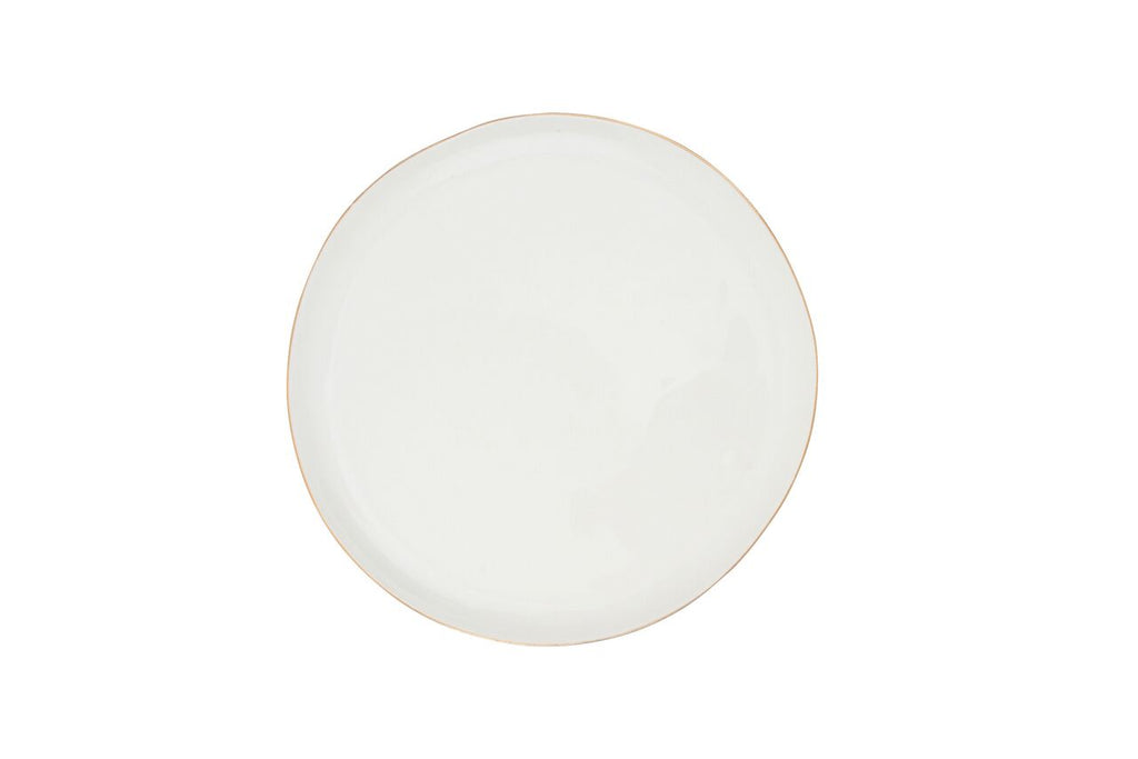 Abbesses Medium Plate Gold Rim (Set of 4)