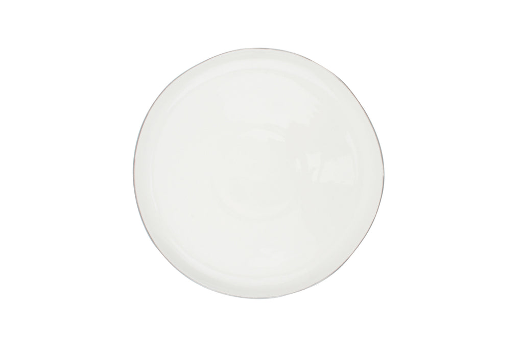 Abbesses Medium Plate Platinum Rim (Set of 4)
