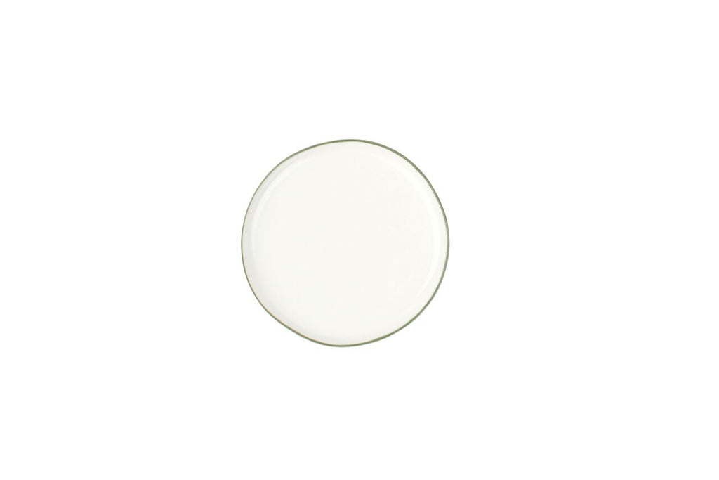 Abbesses Small Plate Green Rim (Set of 4)