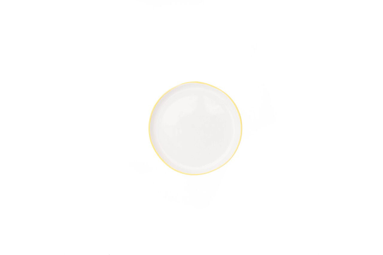 Abbesses Small Plate Yellow Rim (Set of 4)