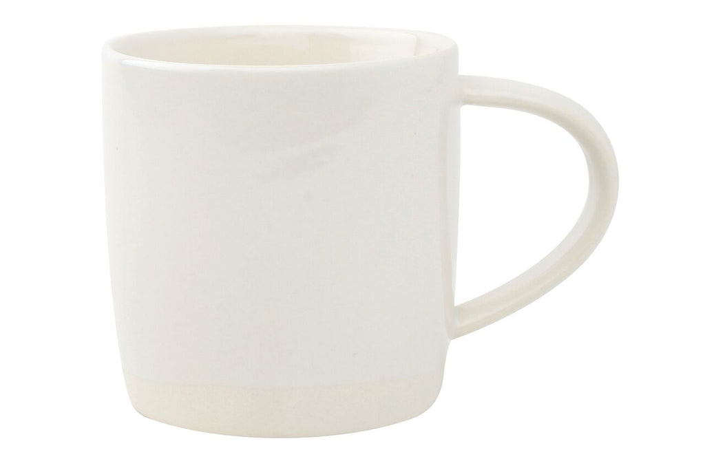 Shell Bisque Mug White (Set of 4)