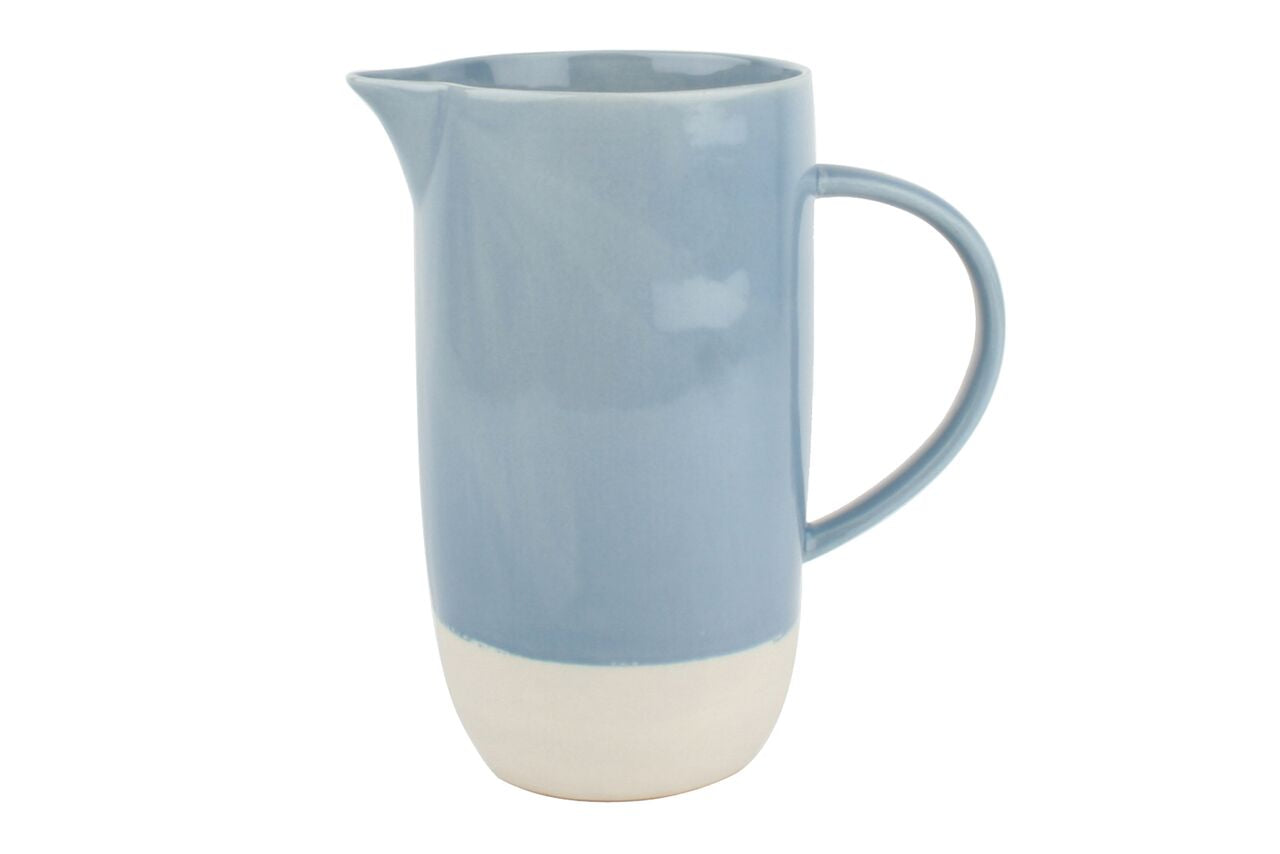 Shell Bisque Jug Blue