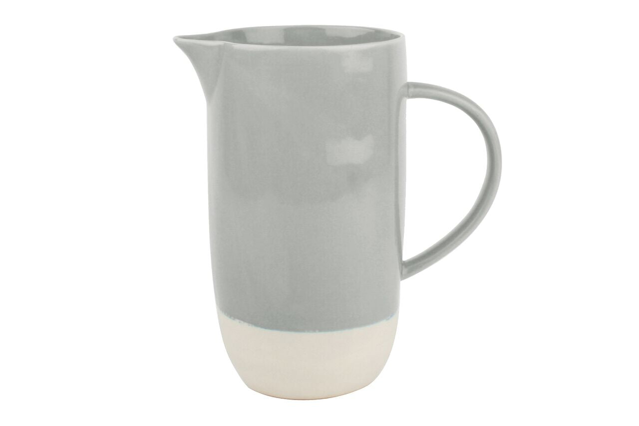 Shell Bisque Pitcher Grey