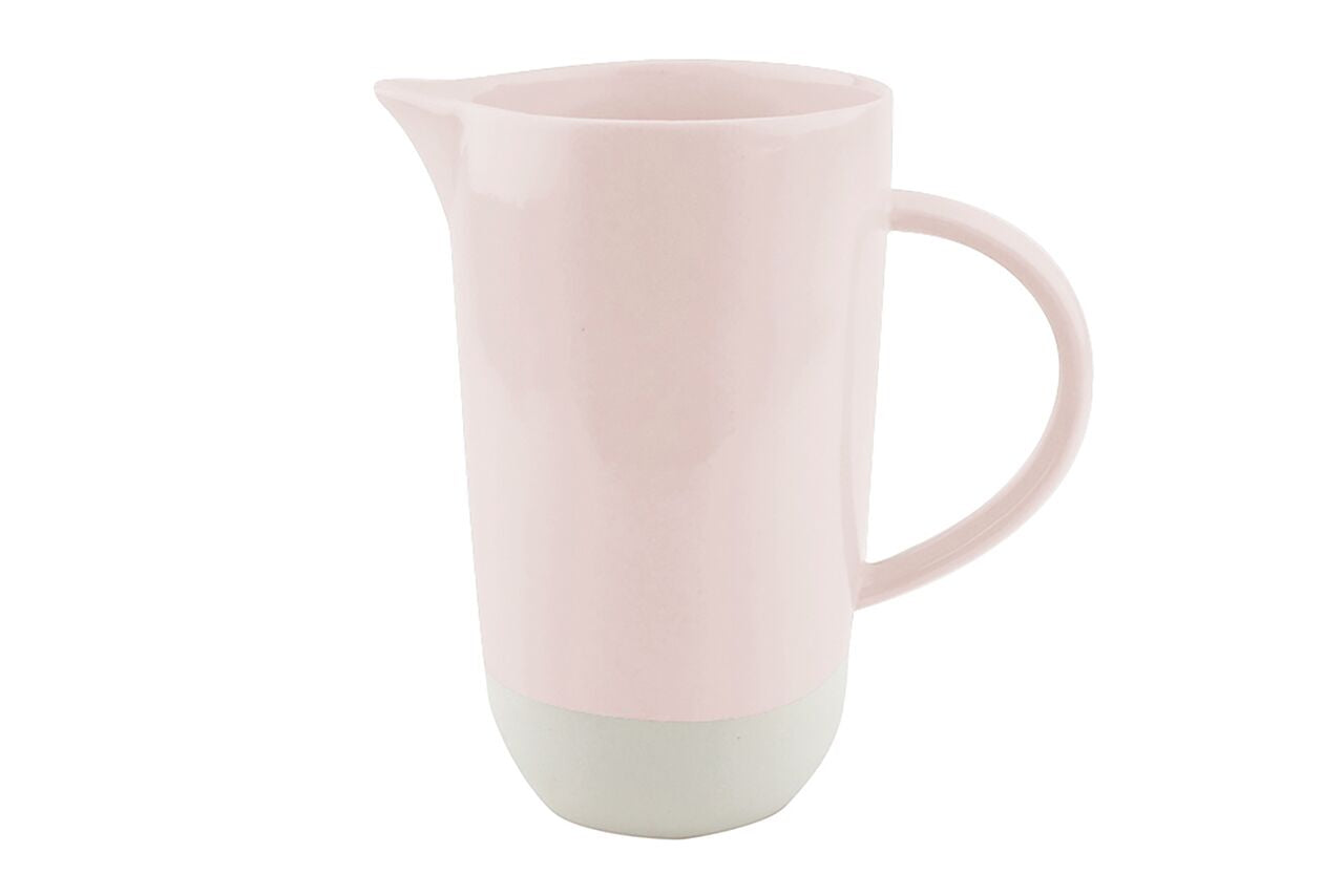 Shell Bisque Jug Soft Pink