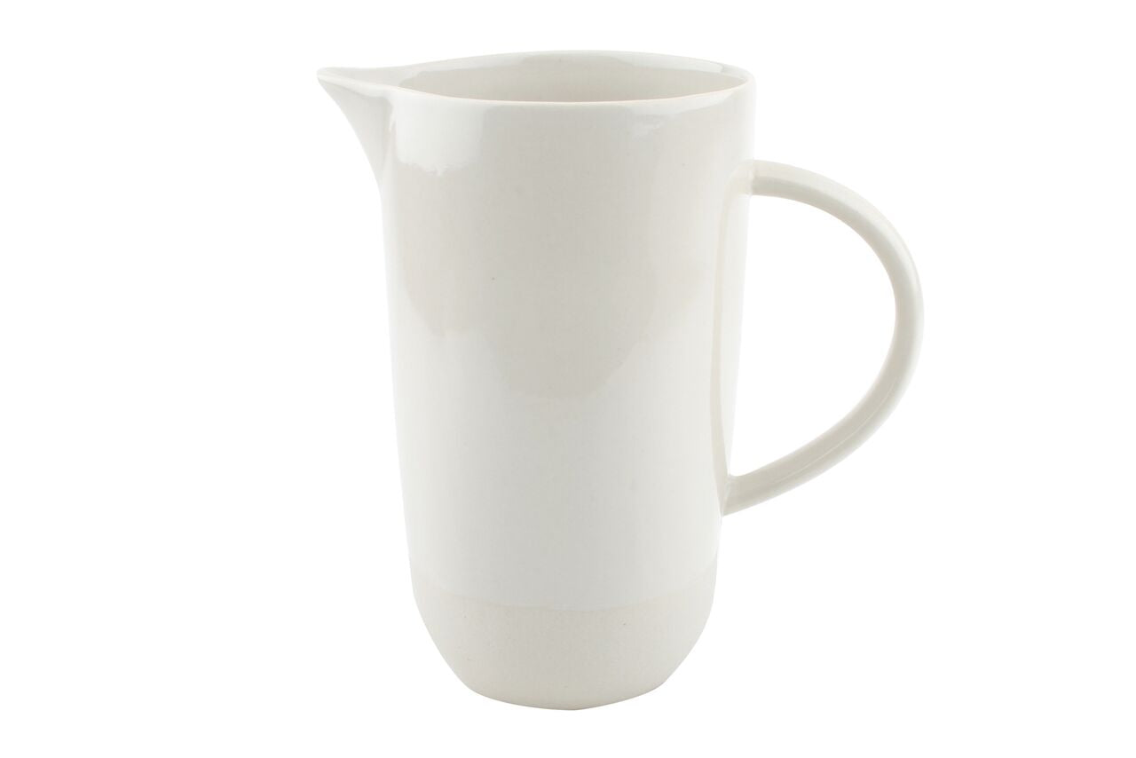 Shell Bisque Jug White