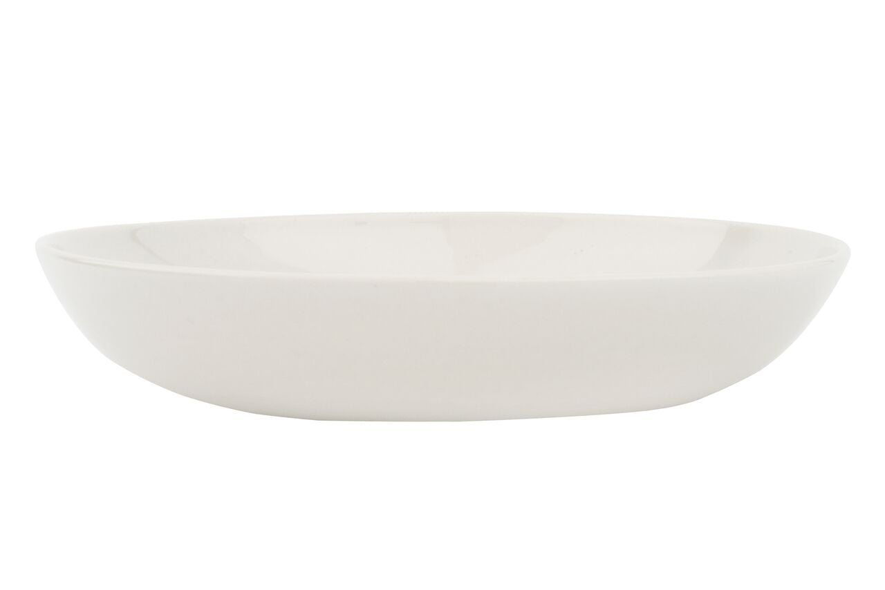 Shell Bisque Pasta Bowl White (Set of 4)