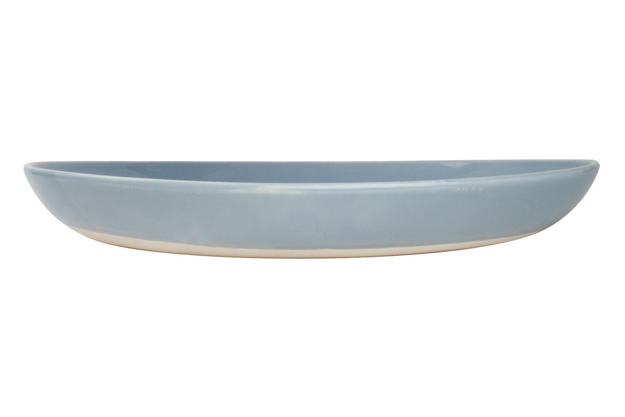 Shell Bisque Salad Serving Bowl Blue