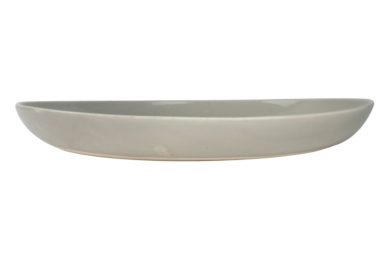 Shell Bisque Salad Serving Bowl Grey