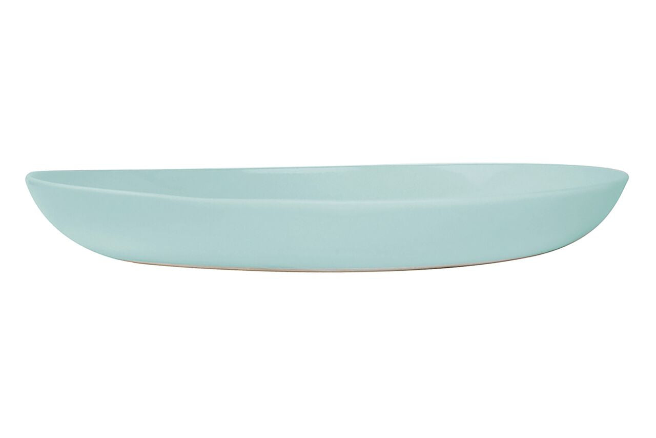 Shell Bisque Salad Serving Bowl Mist