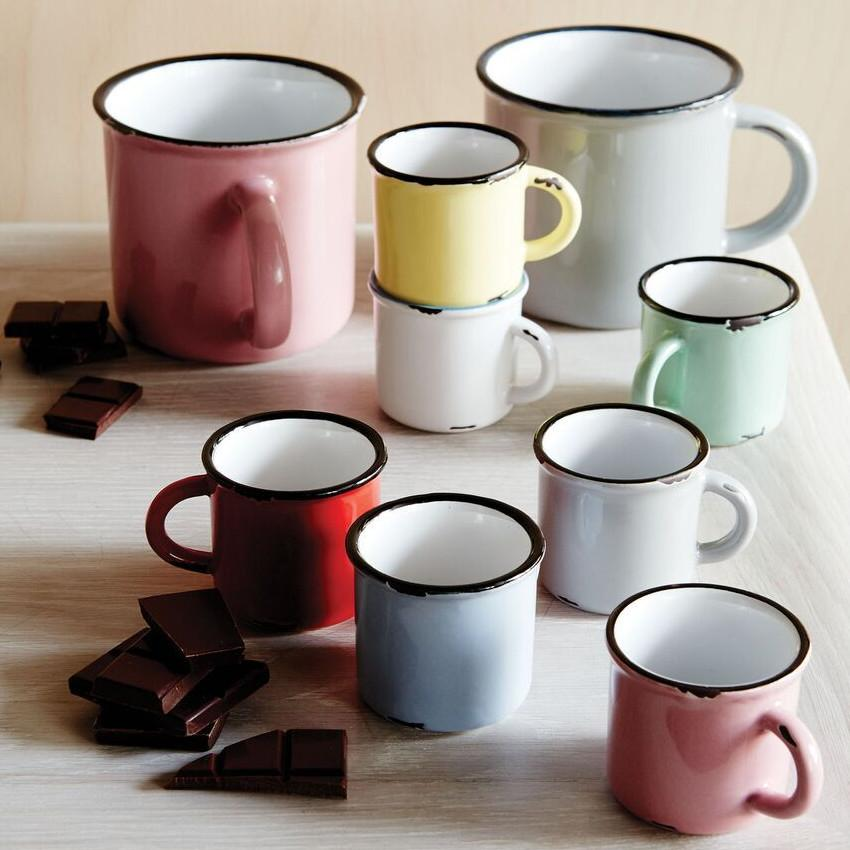 Tinware Espresso Mug in Pink (Set of 4)