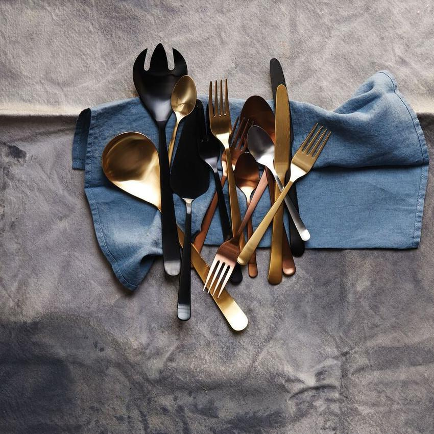Oslo Cutlery Set in Matte Gold - 20pc Gift Set