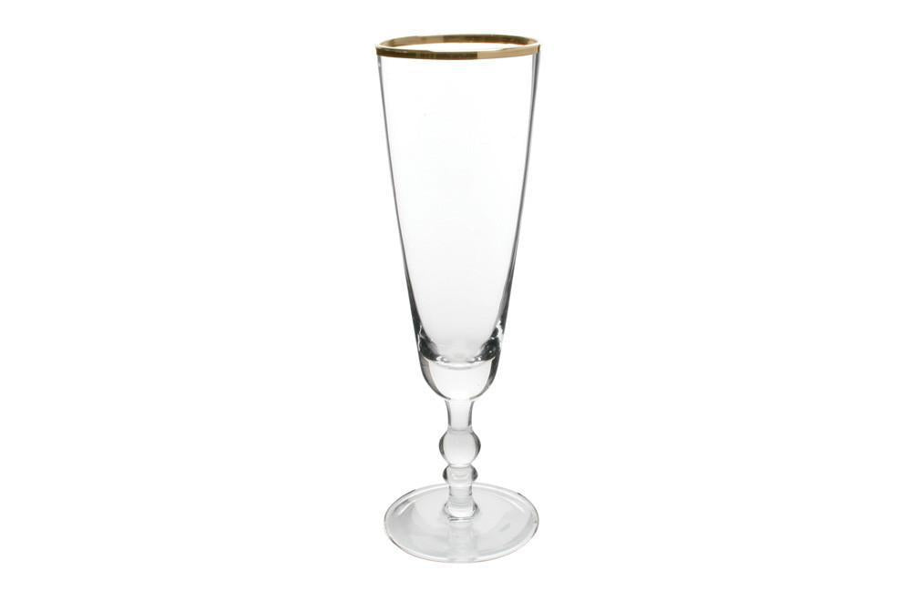 Camden Champagne Flute with Gold Rim - Canvas Home