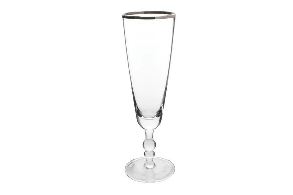 Camden Champagne Flute with Platinum Rim - Canvas Home
