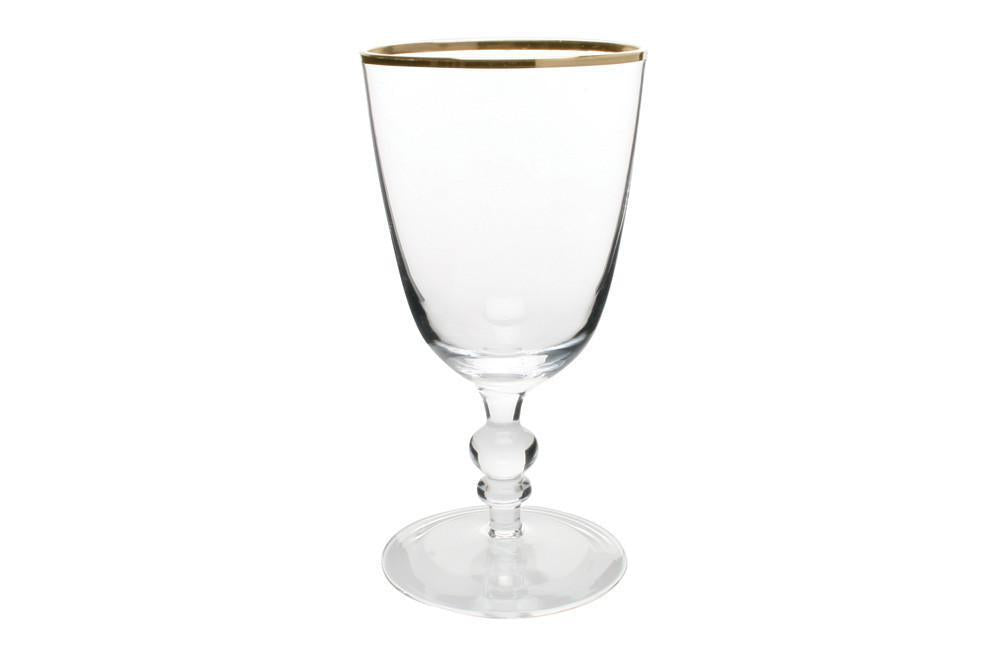 Willow Wine Goblet with Gold Rim - Canvas Home