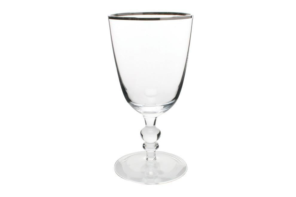 Willow Wine Goblet with Platinum Rim - Canvas Home