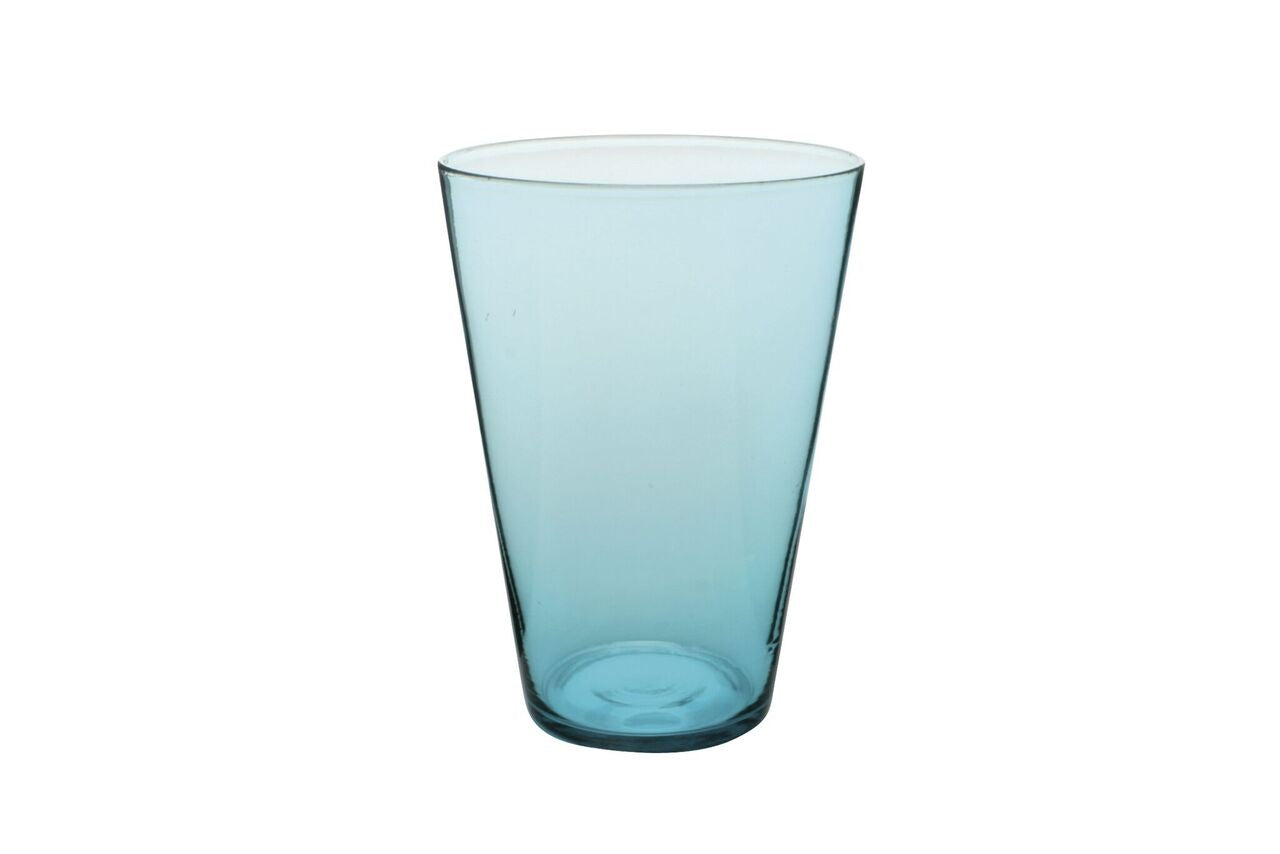 Eau Minerale Glass in Aqua (Set of 4)