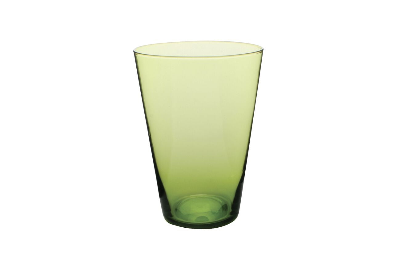 Eau Minerale Glass in Green (Set of 4)