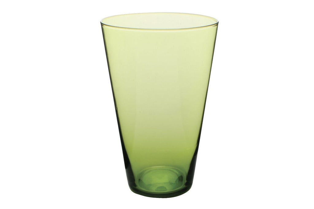 Eau Minerale Large Glass in Green (Set of 4)