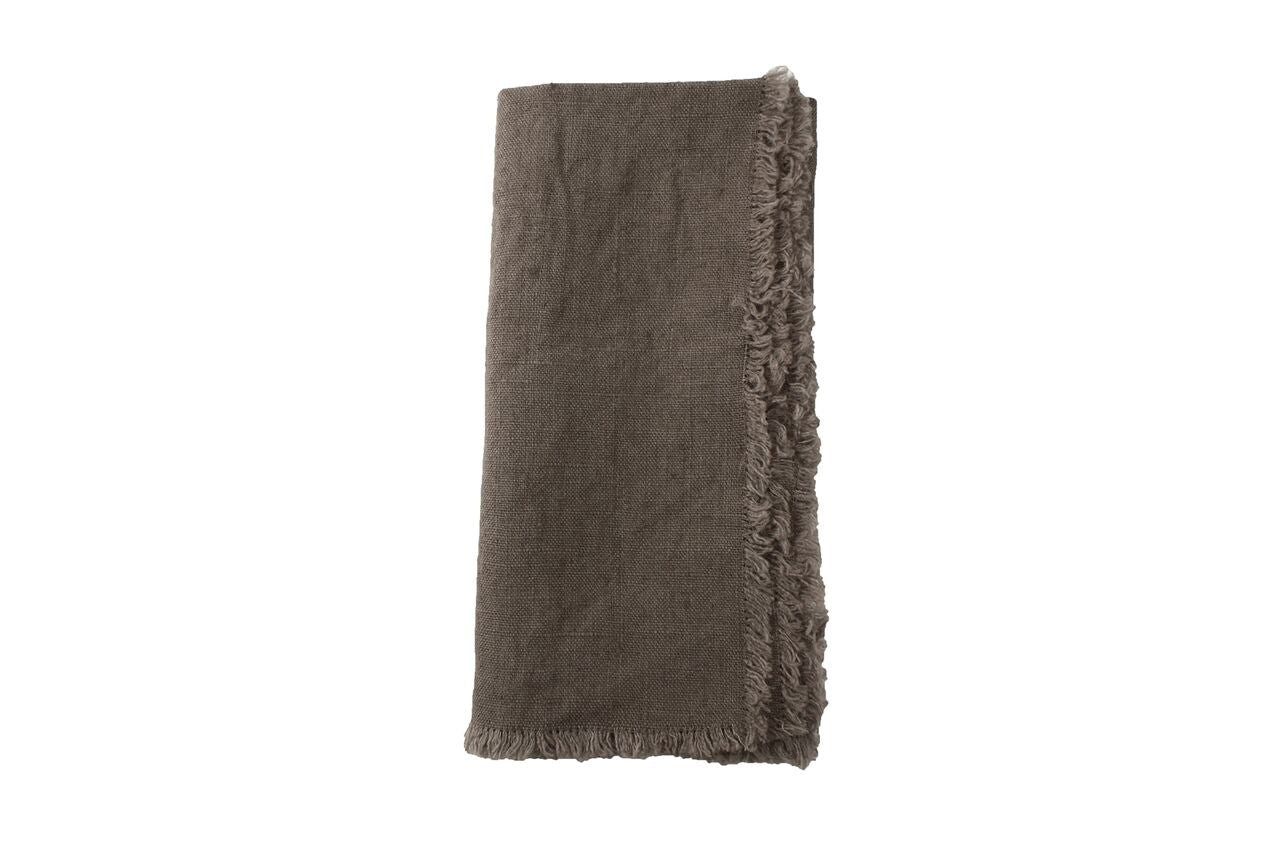Lithuanian Linen Fringe Napkin in Natural (Set of 4)