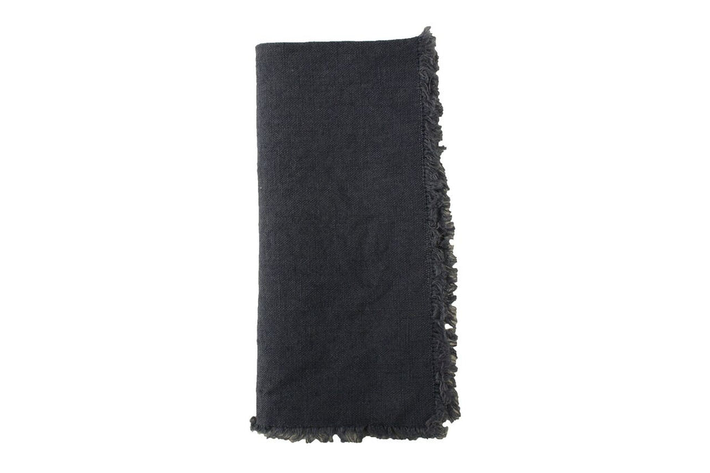 Lithuanian Linen Fringe Napkin in Pigeon (Set of 4)