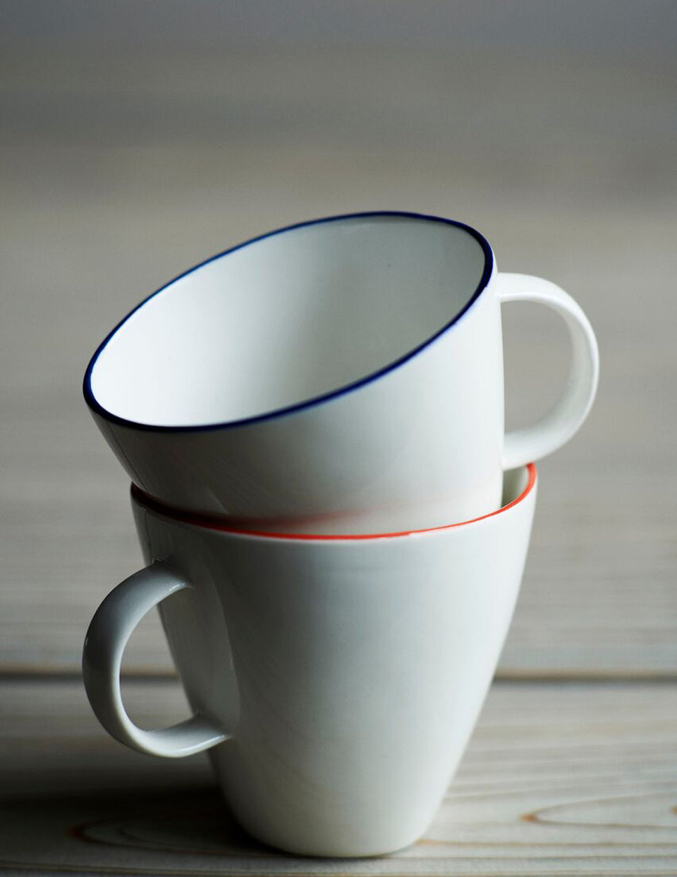 Abbesses Mug Red Rim (Set of 4)