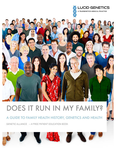 Free EBook  --  Does It Run In the Family? - Genetic diagnosis  - genetic test