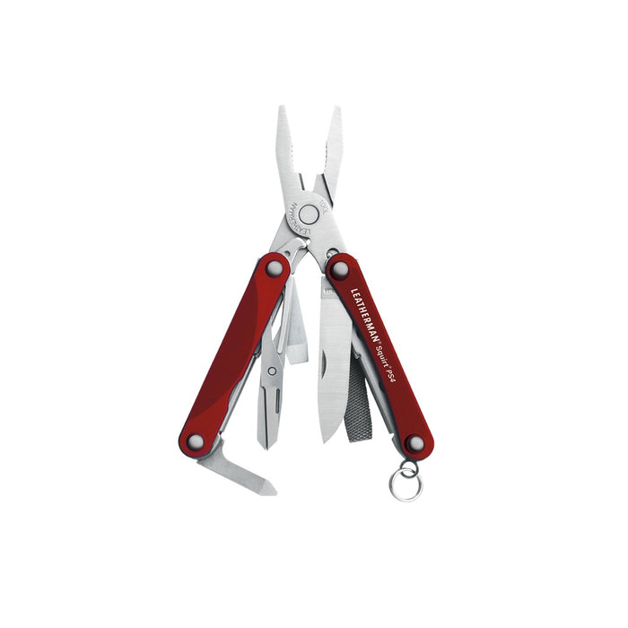 Leatherman Squirt PS4 - Red - Front View