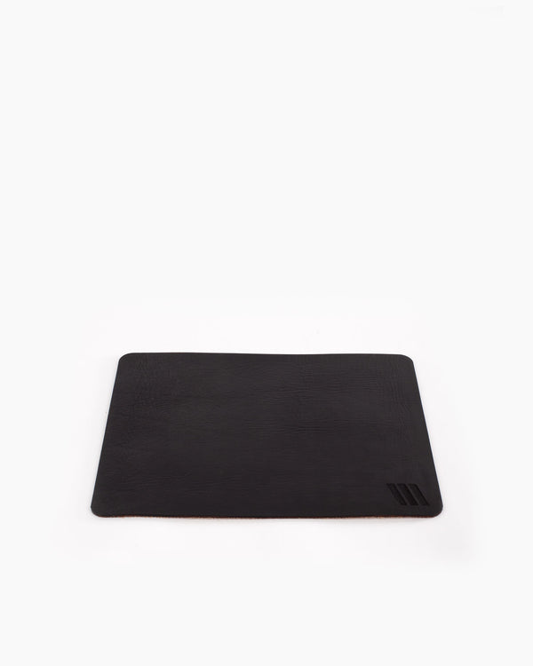 Black Leather Mousepad
