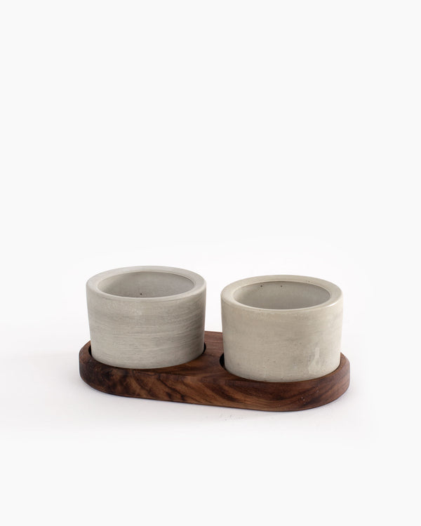 Walnut Pinch Cup Set