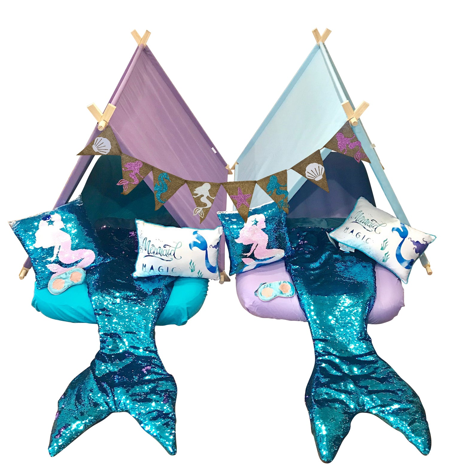 Mermaid tail Sleeping Bag Reversible Sequin