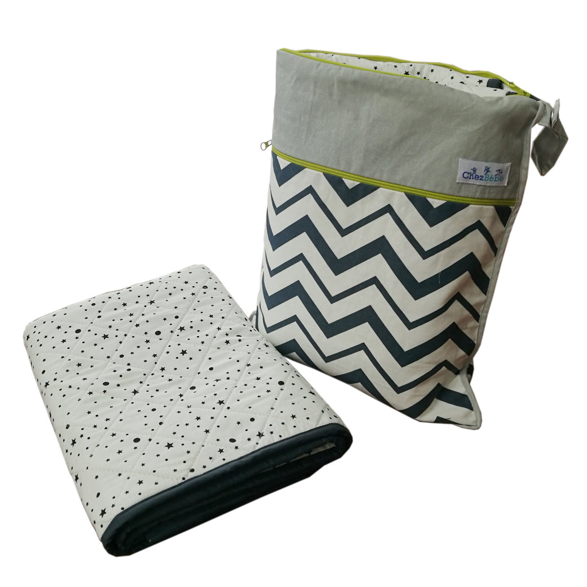 Chevron Grey Wetbag
