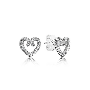 PANDORA Heart Swirls Ohrringe 297099CZ