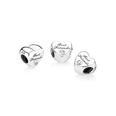 PANDORA Best Friends-Herz Charm 791727CZ