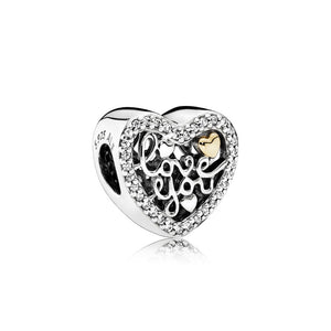 PANDORA Love You Charm 792037CZ